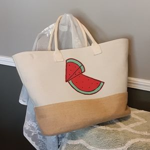 Very large sturdy but light beach tote